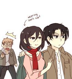 Rivamika gratitude shingeki no kyojin manga mikasaxlevi for Mikasa es su casa