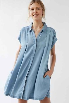 Robe en Chambray Charmane Cooperative - Urban Outfitters