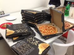 It's pizza day in the office today! Thanks Domino's!
