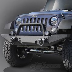 Rugged Ridge® XHD Modular Front Bumper in Textured Black for 07-up Jeep® Wrangler & Wrangler Unlimited JK - KIT-A