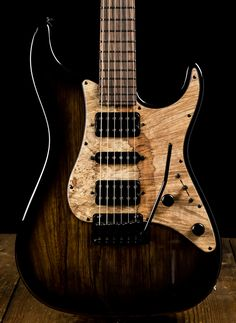 Suhr Standard Custom Black Limba Electric Guitar - Black Burst