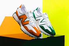 A Closer Look at Casablanca's Color-Blocked New Balance 327 Collaboration: Spot the luxurious materials and clean details all around. Running Sneakers, Air Max Sneakers, Running Shoes, Tumblr Sneakers, Tennis Uniforms, Dress With Sneakers, Nike Sb Dunks, Casablanca, Sports Shoes