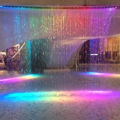 Image about photography in places where reality is altered by 𝙟𝙚𝙨𝙨𝙚 𝙙𝙖𝙧𝙠𝙤 Neon Aesthetic, Rainbow Aesthetic, Aesthetic Rooms, Dream Home Design, My Dream Home, Piscina Interior, Rainbow Water, Neon Room, Luxury Homes Dream Houses