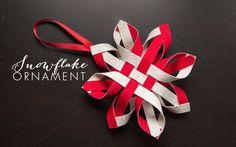 Christmas Ornament | Woven Snowflake tutorial | Laura Pol