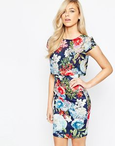 Jessica Wright Kylie Dress with Overlay Floral Top