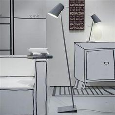Cardiff Iron Floor Lamp, Grey