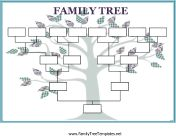 Free fill-in-the-blank family tree printables (there are tons) More