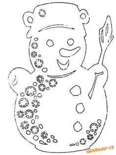 In category Christmas Coloring Pages Christmas Paper Crafts, Christmas Diy, Snowman Crafts, Fun Crafts, Free Christmas Printables, Christmas Coloring Pages, School Decorations, Cricut, Kirigami