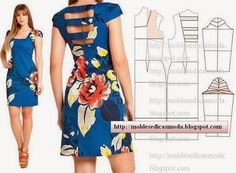 summer dresses, bathing suits, bag + schemes of patterns Diy Clothing, Sewing Clothes, Clothing Patterns, Dress Patterns, Sewing Patterns, Fashion Sewing, Diy Fashion, Ideias Fashion, Costura Fashion