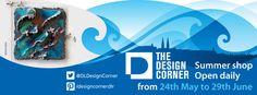 Promotional flyer for The Design Corner's summer pop-up shop. Christmas Pops, Christmas 2014, Brand Identity, Branding, Promotional Flyers, Pop Up Shops, Corner Designs, Printed Materials, Case Study