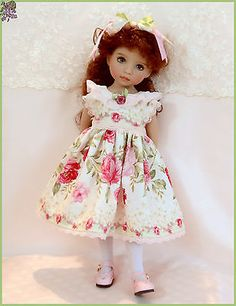 """Beauty of May "" Dress for Effner Little Darling 13"" Doll 