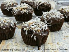 Chocolate Coconut Cupcakes on Having Fun Saving and Cooking