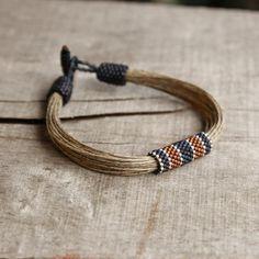 Nautical men's bracelet art beadwork bracelet by Naryajewelry, $27.00