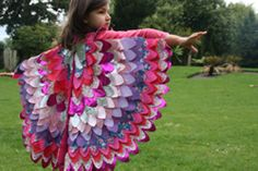 halloween custom for kids: pillowcase wings, sewing patterns - crafts ideas - crafts for kids