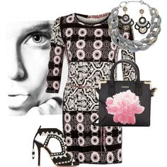 MOD Pink & Black by joybug9 on Polyvore featuring River Island, Sophia Webster, Calvin Klein and DIANA BROUSSARD