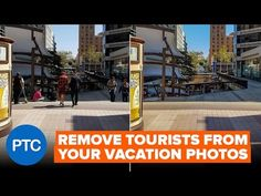 Remove Tourists From Photos In Photoshop | Image Stack Mode Tutorial