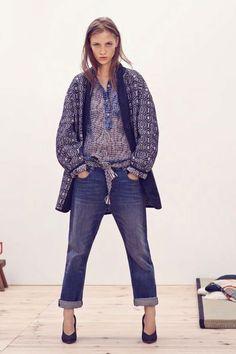 Isabel Marant Etoile Zino silk print henley shirt