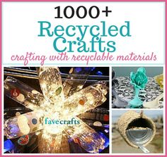 You can make recycled crafts from just about anything in your recycle bin. This long list of recycle projects and recycled art ideas has a DIY craft for every single material. Detergent Bottle Crafts, Pill Bottle Crafts, Water Bottle Crafts, Pill Bottles, Craft Projects For Adults, Easy Craft Projects, Crafts For Kids, Recycled Crafts Kids, Recycled Art Projects