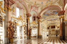 Smelling the pages of old books in the Abbey Library in Admont, Austria. | 31 Places Bookworms Would Rather Be Right Now