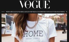 HOME tee on VOGUE cover (digital edition)