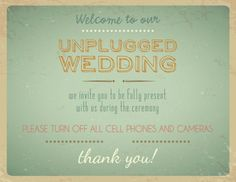 Wording for our unplugged wedding ceremony. Lots of great options from offbeat bride Wedding Trends, Wedding Tips, Wedding Blog, Wedding Details, Our Wedding, Wedding Photos, Wedding Planning, Dream Wedding, Wedding Programs