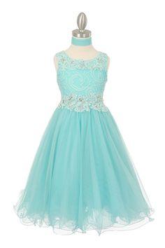 b3583f66aeaec Aqua Sparkle Sequin Lace Bodice Tulle Skirt Flower Girl Dresses Flower Girl  Dresses Teal, Lace