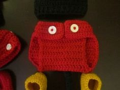 Mickey Mouse Crochet Diaper Cover