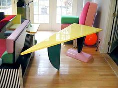 "Peter Shire's ""Brazil"" Table 1981 by Memphis-Milano, via Flickr"