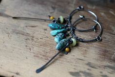 Organic Blue Turquoise  Hoops  Organic SeriesTurquoise by Tribalis, $36.00