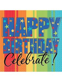 Purchase A Year To Celebrate Happy Birthday Napkins and other All Adult Parties party supplies. The most popular party Supplies and Decorations, all available at wholesale prices! 80th Birthday Decorations, 18th Birthday Party, Happy Birthday Parties, Birthday Box, Happy Birthday Images, Happy Birthday Greetings, Birthday Pictures, Birthday Party Themes, Birthday Signs