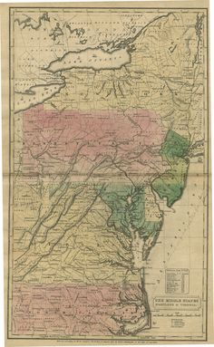 The Middle States: Maryland and Delaware also includes New Jersey and most of New York State, 1830, printed by H.F.J. Huntington