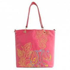 Ethnic Style Women's Shoulder Bag With Embroidery and PU Leather Design