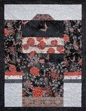 Kimono quilt made with the Narumi collection by Hoffman California Fabrics