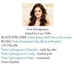 Pretty Little Liars makeup tips/products used- Aria