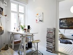 Nice interior / white / working place