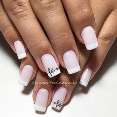 Luv Nails, Gray Nails, Pretty Nails, Grey Nail Designs, French Manicure Designs, Wedding Pedicure, Vernis Semi Permanent, Elegant Nails, Beautiful Nail Art