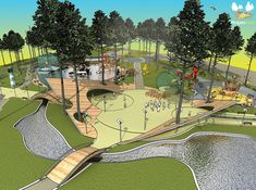 If you live in a dry and arid climate then your desert landscaping is going to take a little more planning than some other parts of the country. desert landscaping will have to work with a plan that includes only plants and trees that Park Landscape, Landscape Plans, Urban Landscape, Landscape Steps, Villa Architecture, Landscape Architecture Design, Playground Design, Outdoor Playground, Children Playground