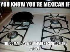 Because you know the RIGHT way to heat a tortilla is on a comal. | 53 Signs You Grew Up Eating Mexican Food