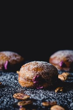 Maple Pecan Doughnuts With Blueberry & Mascarpone Filling-6