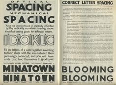 Letter spacing - The Vintage Speedball Textbook