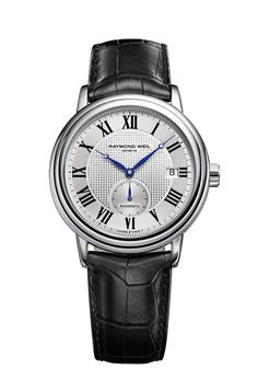 Maestro 2838-STC-00659 Mens Watch - Maestro automatic small second Steel on steel silver dial | RAYMOND WEIL Genève Luxury Watches