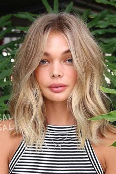 Natural Highlighted Long Bob ❤️Do you consider blonde hair blu - Baby Hair Style