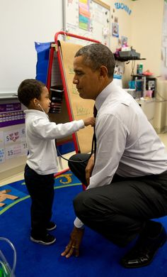 Or tiny doctors� | All The Times President Obama Lost His Chill Around Kids - BuzzFeed News