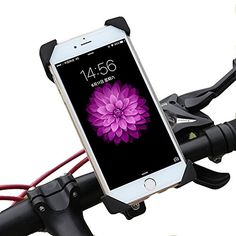 SURPHY Phone Holder for Bicycle Motorcycle ATV Handlebar Roll Bar iPhone X 8 7 6 6s 7 Plus 5 5s Bike Mount for all Android Smartphones and GPS Holder One-button Released 360 Deg Universal Bike Mount