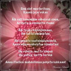 Finnish Words, Think, Diy Presents, Powerful Words, Self Love, Wise Words, Beautiful Pictures, Mindfulness, Quotes