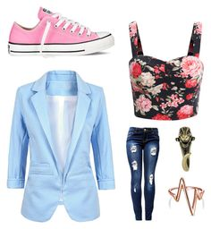 Floral love by elenore64 on Polyvore featuring polyvore, fashion, style, Converse and Bling Jewelry
