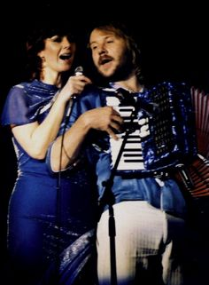 Anni-Frid Lyngstad and Benny Andersson ABBA