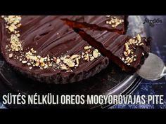 Sütés nélküli oreos mogyoróvajas pite - YouTube