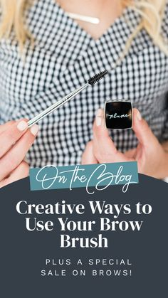Who doesn't love a product that can multitask? In today's blog, we're showing you all the creative (and genius) ways to use your Dual-Ended Brow Brush! Brows, Lashes, Brow Brush, Science, Creative, Feather, Eyebrows, Eyelashes, Eye Brows