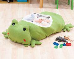 Kids' Plush Frog Storage Bag